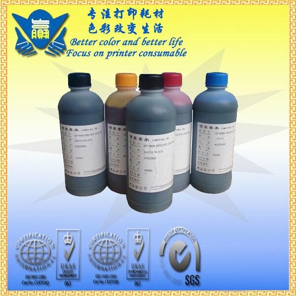 Cor universal 5 da venda quente, tinta uv da tintura do reenchimento de 5x1000 ml para impressoras do inkjet dos cânones.