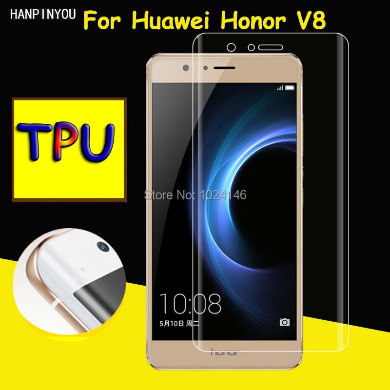 Full Coverage Clear Soft TPU Film Screen Protector Guard Shield For Huawei Honor V8 5.7