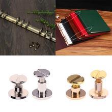 Vis à lier en cuivre 20 pièces   Clous Rivets Photo Album, bagage cuir artisanat, ceinture, portefeuille livre métal vis en laiton massif 5mm/8mm