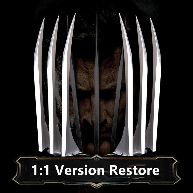 X-Men Super héroe Wolverines loverines Cosplay hoja garra pata 11 armas Cosplay Halloween juguete Cosplay Accesorios