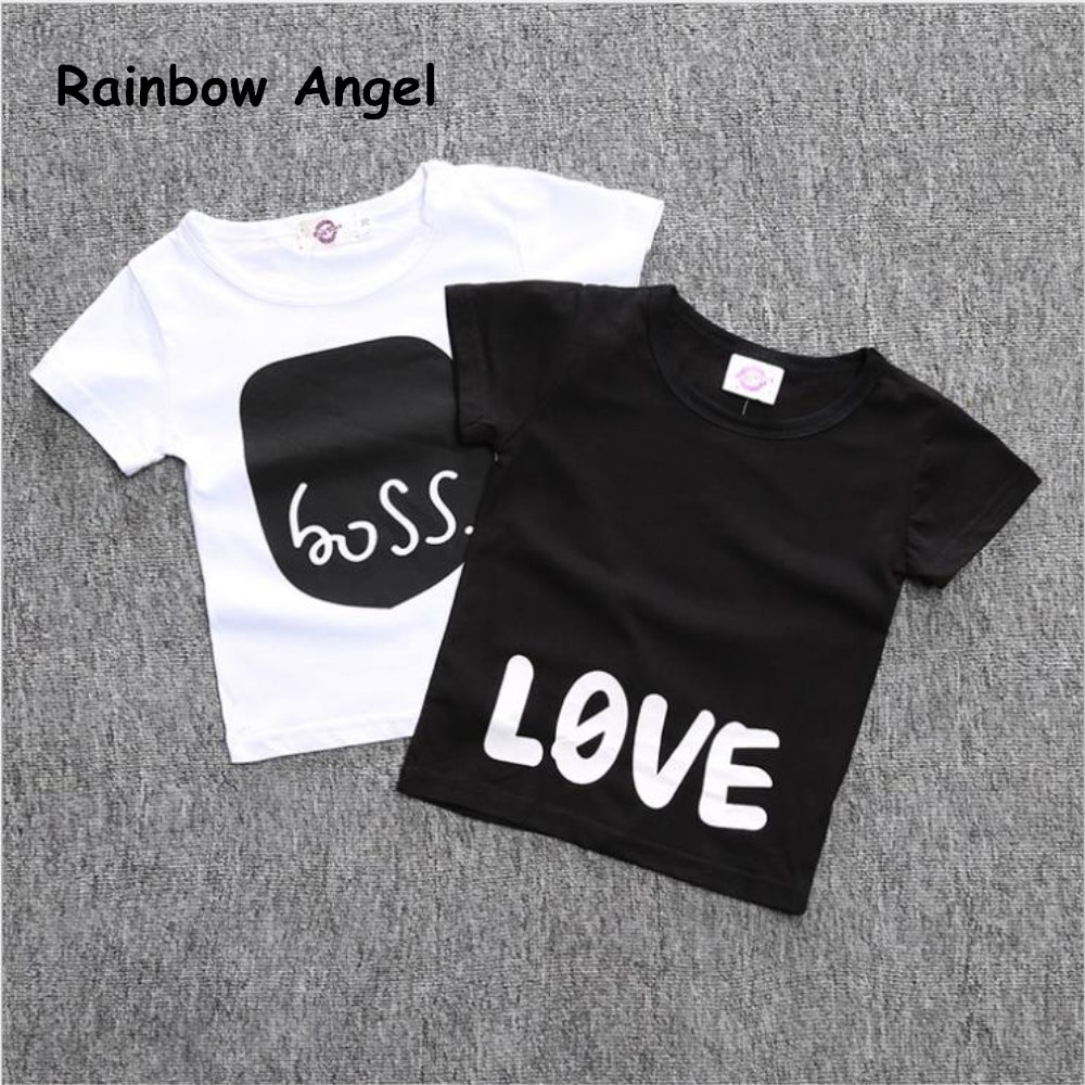 2019 New Boy and Girl T Shirts Children's Short Sleeved  Children's Shirt Cotton Tops Cartoon Clothes White Kid Unisex t Shirts