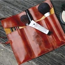 XZHJT femmes Vintage sac cosmétique crépuscule Kit stylos pinceaux de maquillage sac en cuir PU voyage maquillage sac de toilette support organisateur