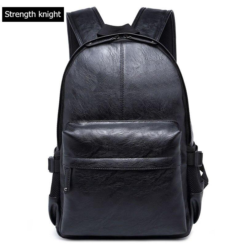 Мужские рюкзаки из искусственной кожи, мужские Модные повседневные Рюкзаки и дорожные сумки, сумки в студенческом стиле, женский рюкзак