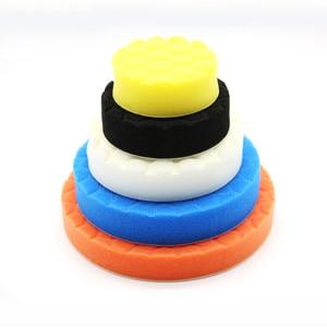 Image 3 - 5 x губки для полировки, автомобильные краски, шлифовальные колодки, инструменты для очистки щеток, Для Полировки Автомобиля 75 100 125 150 180 мм с клейкой прокладкой