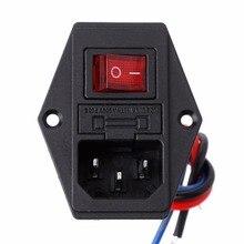 3D Drucker U-typ Stecker Netzteil Schalter Adapter Steckdose mit Schalter und Sicherung Kippschalter