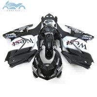 ABS Injection fairings kit for Kawasaki 2008-2014 Ninja 250R ZX250 motorcycle sport fairing kits EX250 08 09-14 black WEST parts