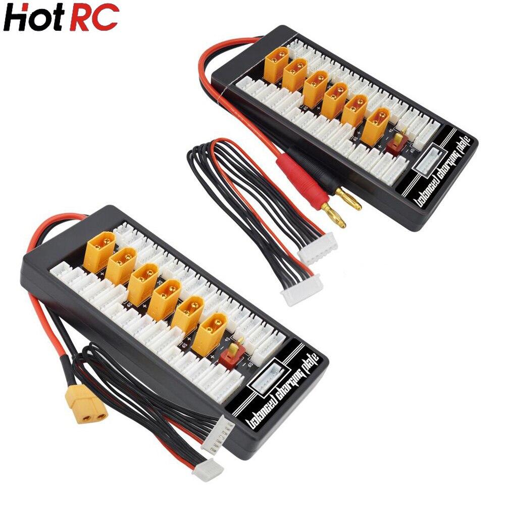 1 pièces HotRc haute qualité 2 S-6 S XT60 prise carte de charge parallèle Para Board XT60 prise 4.0MM Bananer pour Imax B6 B6AC B8 6 en 1