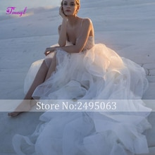 Fmogl nouveau luxe perlé chérie cou a-ligne robe de mariée 2020 gracieuse froncé Organza princesse robe de mariée Vestido de Noiva