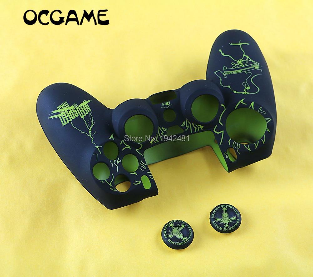 OCGAME, controlador protector de silicona para GamePad, Joypad, carcasa, cubierta de piel con empuñaduras de joystick para controlador PS4