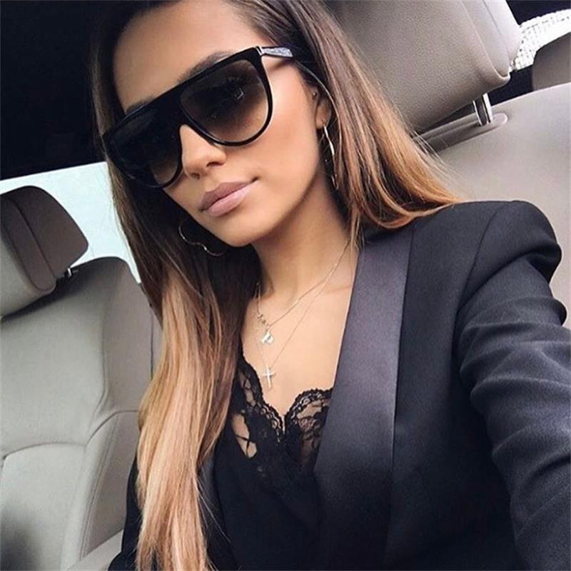 Женские квадратные солнцезащитные очки MOLNIYA, дизайнерские черные большие линзы uv400 в прозрачной оправе, 2019