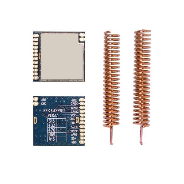 2pcs/lot RF4432PRO - 433mhz | 470MHz 1.4km FSK/GFSK SPI port Wireless RF Transceiver Module