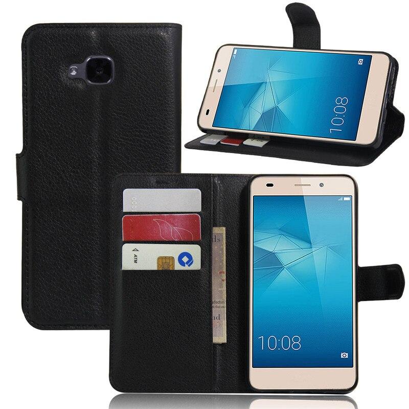 Para Huawei Honor 5C cartera caso cubierta del cuero del tirón PARA EL Huawei Honor 5 C 5C 5,2 TPU Shell Euro teléfono caso las cocas