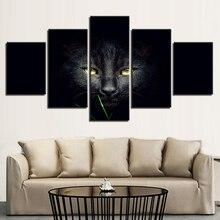 Affiche de photos modulaire 5   Panneau daffiches, décoration de maison, toile de chat Animal, Art peintures modernes du salon