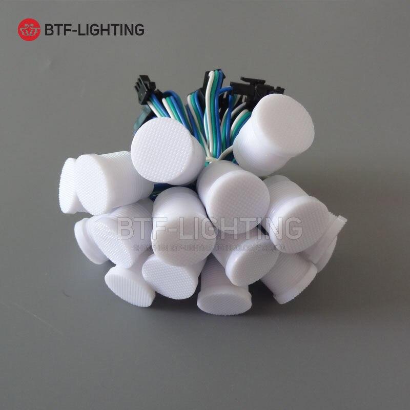 2 سنتيمتر القطر كامل اللون LED نقطة ضوء مصدر! قرد DC5V 2811 IC شفافة حليبي الأبيض قذيفة المياه مصباح