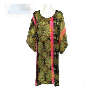 Silk Women Super Loose Night Dress Loungewear Night Skirt Homewear Plus Size Sleepdress bat wing Nightgowns