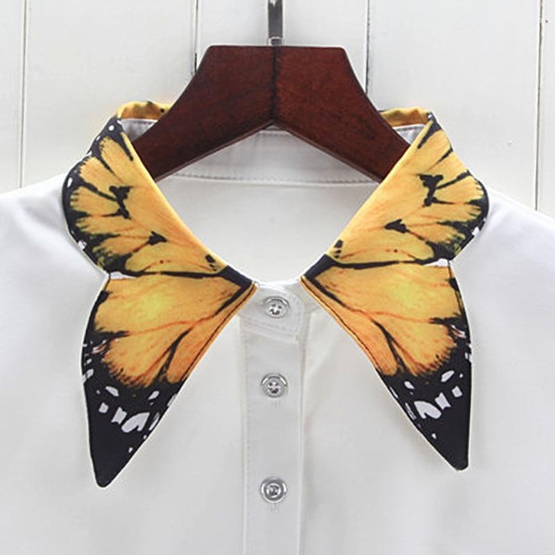 Женское Ожерелье-чокер W715, с принтом в виде бабочки