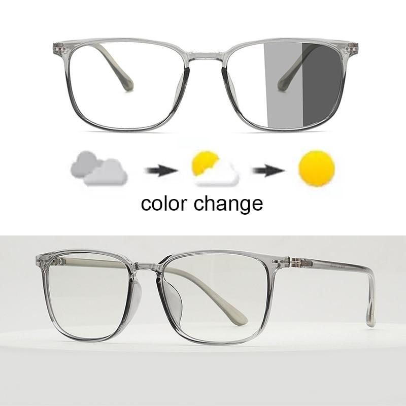 Blue Light Blocking Glasses Square Nerd Eyeglasses Frame Anti Blue Ray Computer Game Photochromic UV