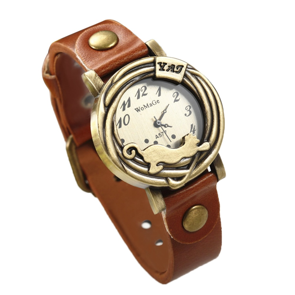 Relojes de marca más famoso para mujeres, niñas, mujeres, moda hermosa y Simple reloj de pulsera correas de cuero para dama reloj para regalos