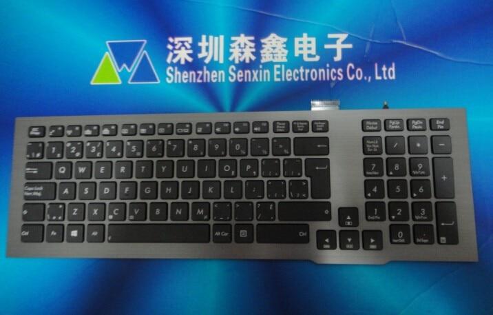 Бесплатная доставка из Канады клавиатура с подсветкой для Asus G75 G75V G75VW-BBK5 серии серебряная рамка черные клавиши