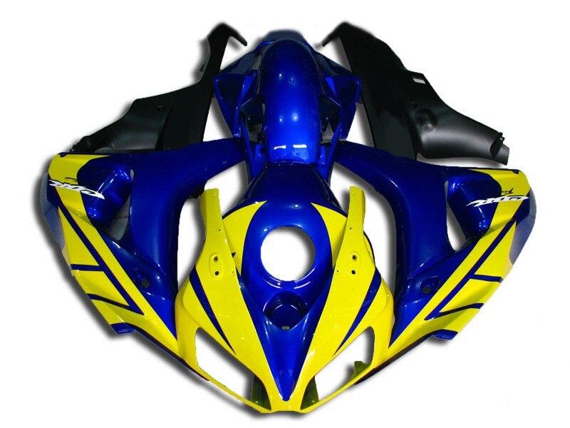Nn-CBR1000RR 06 07 carrocería Kit para Honda CBR 1000 RR 1000RR CBR1000 RR 2006; 2007 de inyección carenados amarillo azul