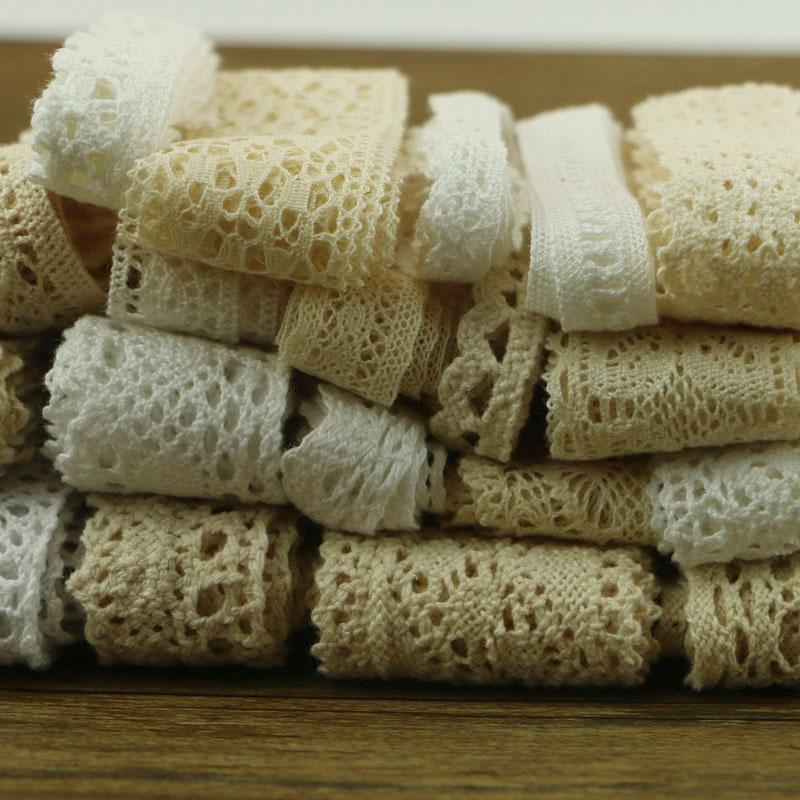 10 yards 10 series of garment sewing fabric DYI cotton crochet lace ribbon ornaments.