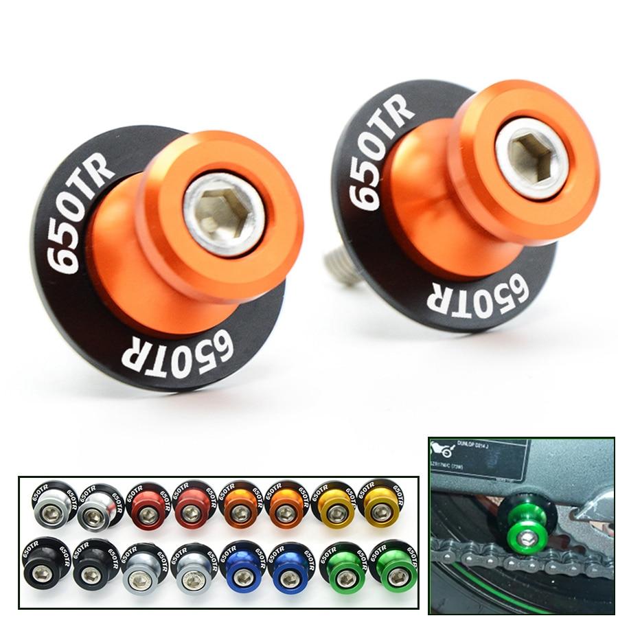 Tornillos de soporte deslizador de bobinas de plástico y aluminio para accesorios de motocicleta para bicicletas de primavera 150NK owl 650TR 650NK 650TR log