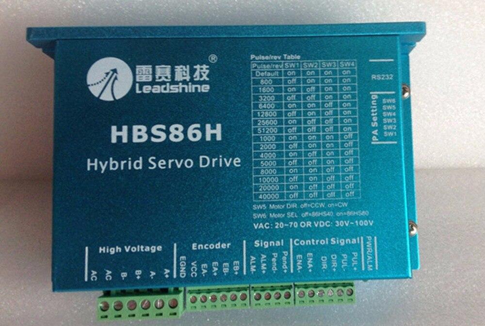 Leadshine-محرك دراجة HBS86H ، محرك 500 واط ، سعة 8 أمبير ، 100 فولت تيار مستمر ، لآلة توجيه cnc/ختم ثلاثي الأبعاد/cnc macchina di taglio