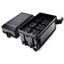 Boîte de relais à 12 fentes   6 relais ATC/ATO bloc de support de fusibles Standard avec 41 pièces, goupilles métalliques universelles pour accessoires automobiles
