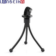 LANBEIKA 2 en 1 Mini support de trépied Flexible en métal Portable + adaptateur de montage sur trépied pour GoPro Hero 7 6 5 4 3 + SJCAM SJ4000 YI