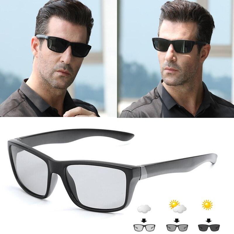 Óculos Polarizados Fotocromáticas Camaleão dos homens Condução Óculos Homens Mulheres Motoristas UV400 Masculino Óculos De Sol Óculos de Pesca