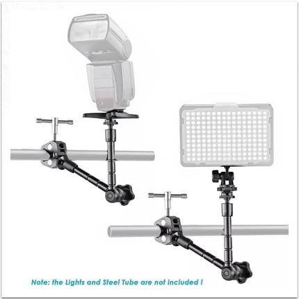 Brazo mágico articulado ajustable de 11 pulgadas + súper pinza pinzas para cangrejo Clip para videocámara Monitor LCD luz LED cámara DSLR