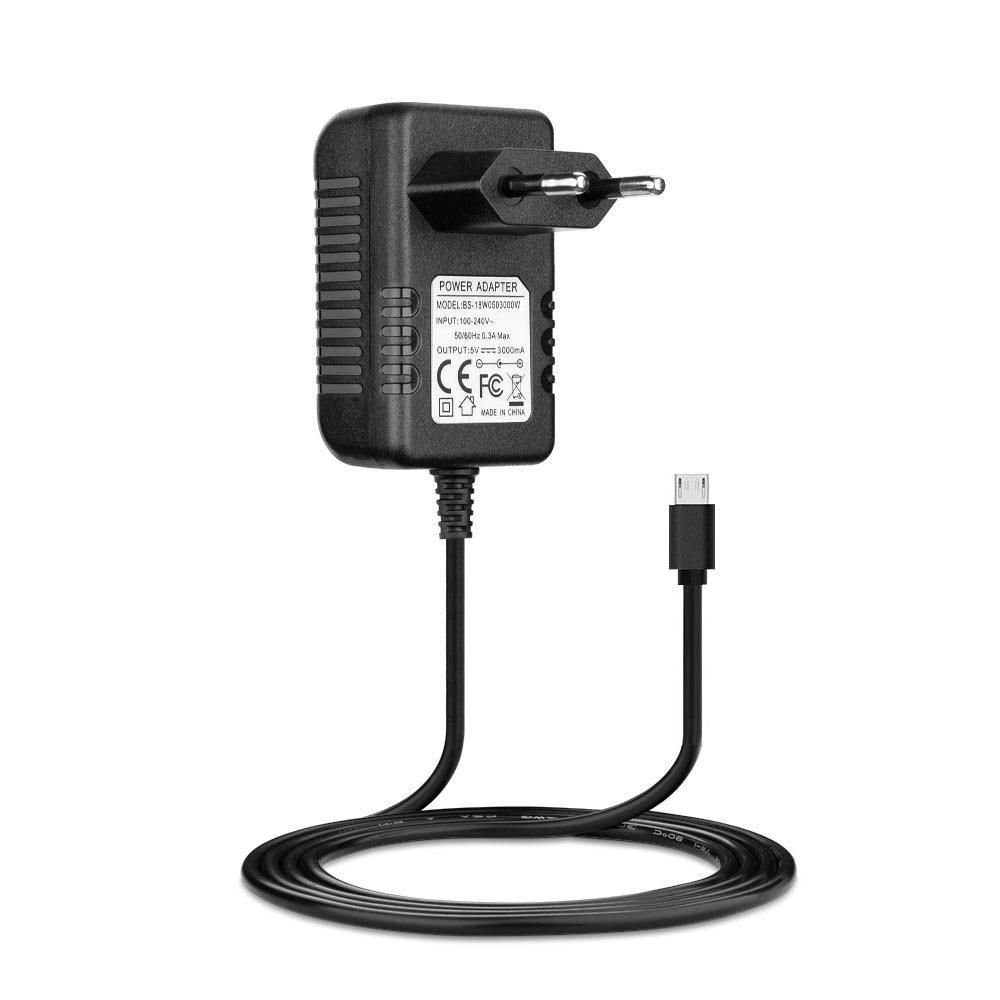 Raspberry Pi 3 Model B Power Supply Charger AC Adapter 5V 3A PSU Micro USB 1m DC Cable EU plug