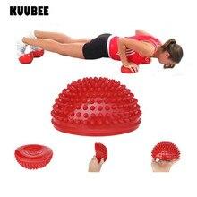 Yoga Half Ball PVC Tactile Exercises Trainer Pilates Fitness Yoga Balance Massage Ball