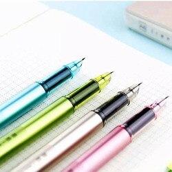Caneta de tinta da fonte da caligrafia plástica da cor dos doces bonito kawaii para escrever o presente artigos de papelaria coreanos