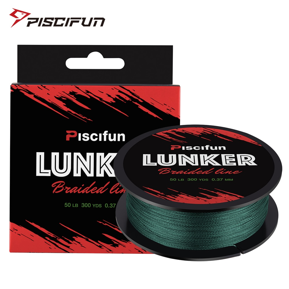 Piscifun Lunker 274M Fishing Line 0.06-0.5mm 4 Strands 6-80lb  Strong Netherlands PE Fiber Multifilament Braided Fishing Line
