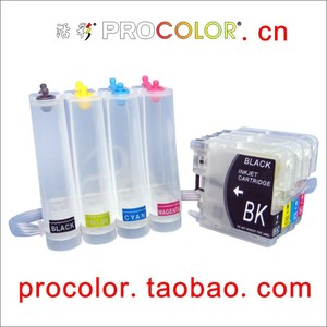 PROCOLOR  CISS LC38BK/LC38C/LC38M/LC38Y for BROTHER DCP-145C/DCP-165C/DCP-195C/DCP-375CW/MFC-250C/MFC-255CW/MFC-290C/MFC-295CN
