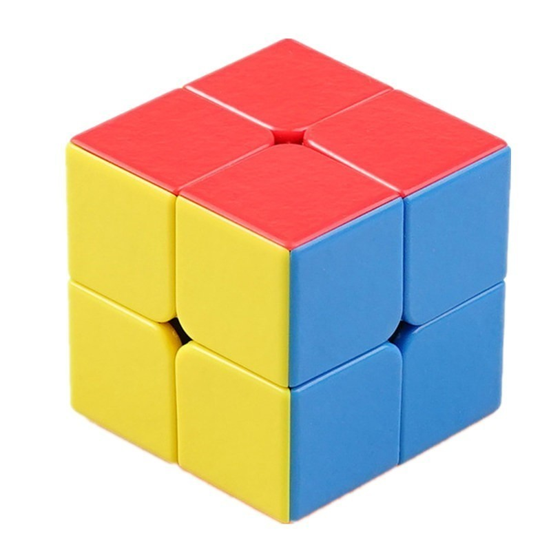 shengshou 50mm joia divina 2x2x2 cubo magico 2 por 2 cubo magico striae cor competicao