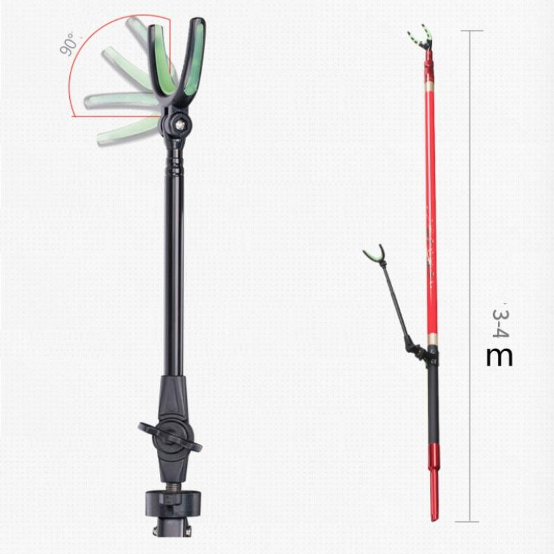 3m 4m 3/4 Sections Adjustable Telescopic Fishing Holder Aluminium Fish Pole Rack V Holder Bracket Support Stand Articoli Pesca enlarge