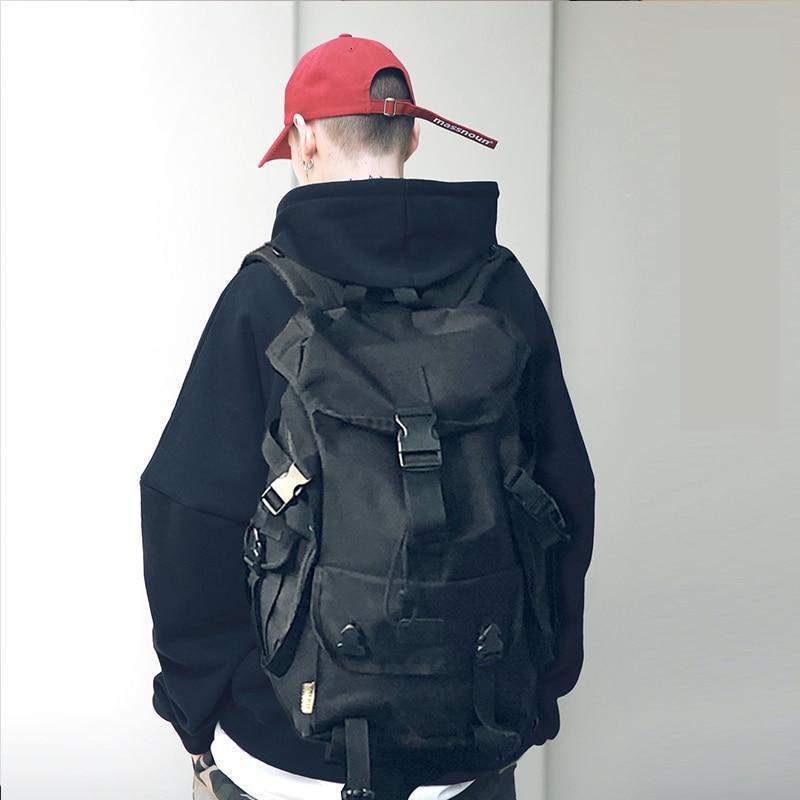 حقيبة ظهر للكمبيوتر المحمول مقاس 15.6 بوصة بنمط الشارع مضادة للسرقة للرجال ، حقيبة سفر كبيرة السعة ، نمط غير رسمي