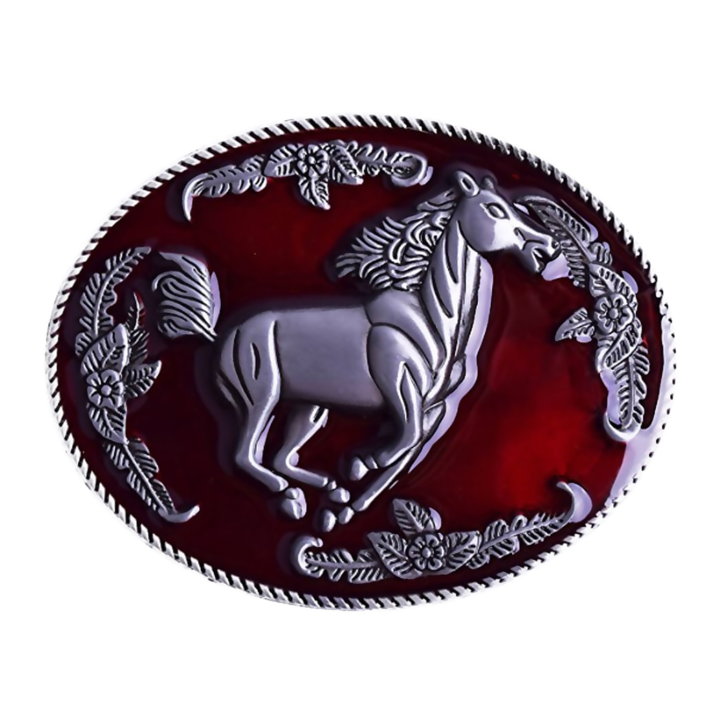 Zinc Alloy Belt Buckle for Men High Quality Material Gold Silver Horse Adaptation width 3.5CM Designers Fashion Design