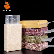 Вакуумная упаковочная упаковка для пищевых продуктов, прозрачные пластиковые пакеты для закусок, сухих фруктов, бобов, рисовая упаковка, ге...