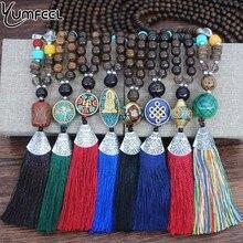 Yumfeel Marke Neue Geometrie Nepal Vintage Halskette Frauen Lange Wulst Antike Gold & Silber Farbe Anhänger & Halskette Schmuck