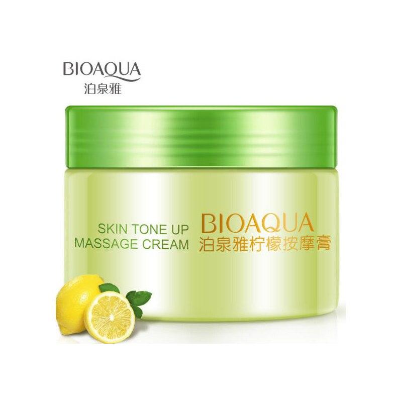 BIOAQUA Limão Gel Creme De Massagem 120g Tratamento Cuidados para o Rosto Creme de Limpeza Hidratante Facial Hidratante Cuidados Com A Pele