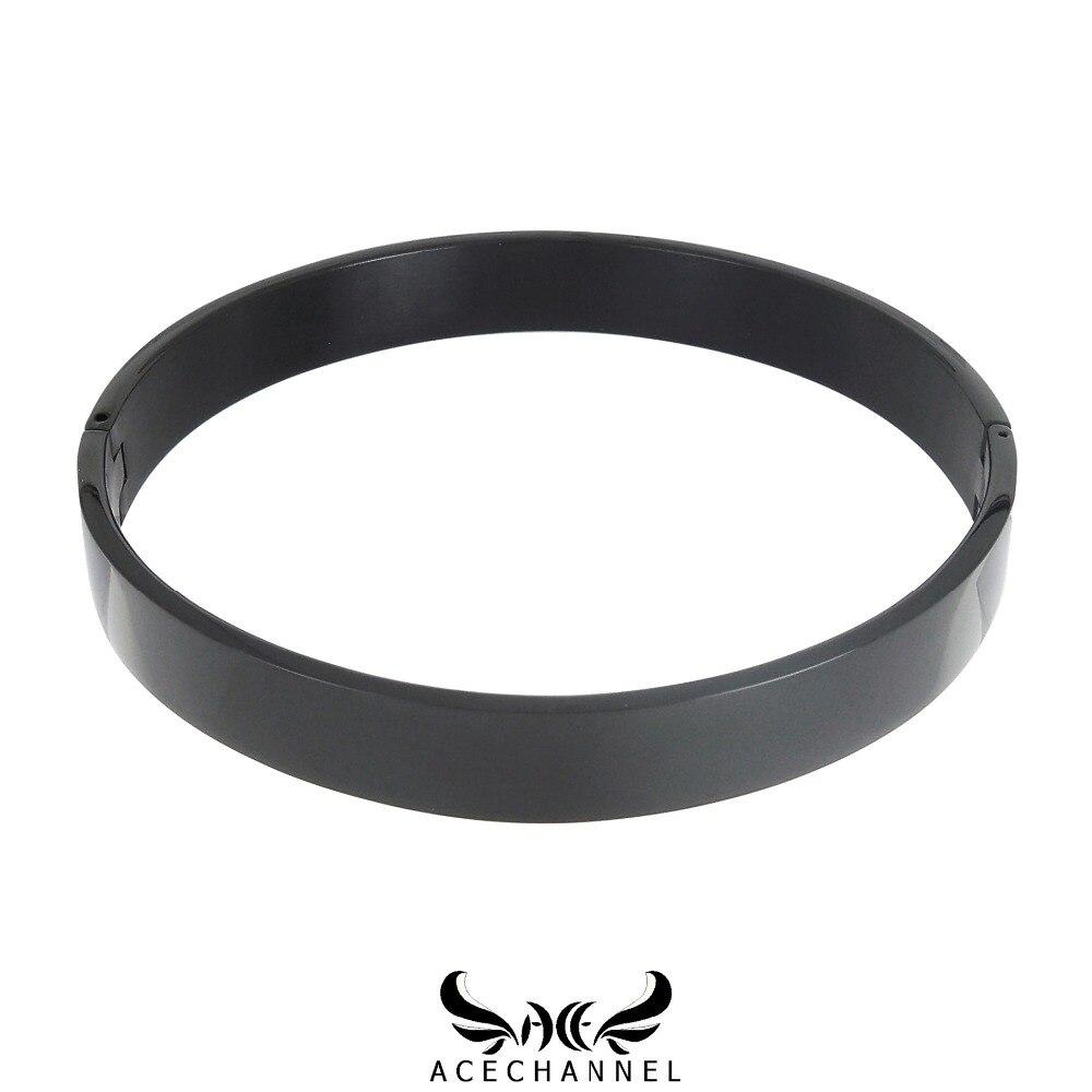 Collar gargantilla de acero inoxidable pulido negro esclavo con cerradura collar fetiche desgaste torque con restricciones de esclavitud establecidas