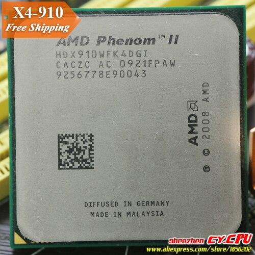 AMD Phenom II X4 910 CPU procesador Quad-CORE (2,6 Ghz/6 M/95 W/ 2000 GHz) hembra am3 am2 + envío gratis 938 pin vender X4 925X4 945
