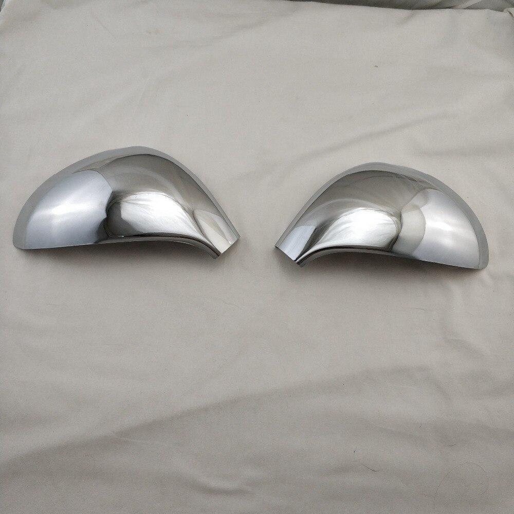 Novel style 2 uds ABS cromado espejo de puerta cubiertas para Peugeot 207 2006-2014 Modificación de coche