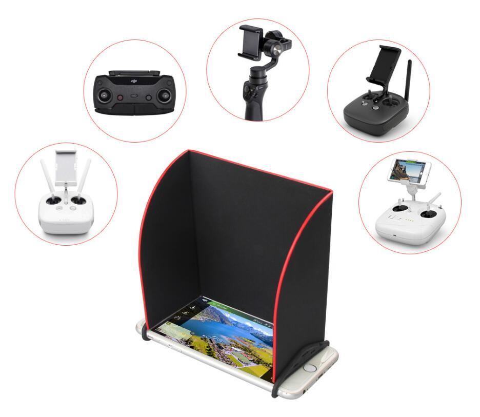 5,5 zoll Monitor Tablet Telefon Sonne Haube Fernbedienung Sonnenschirm für DJI Mavic funken Drone Phantom