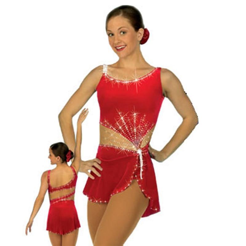 RUBU leotardo personalizado Gimnasia Rítmica EDAD 6-8 patinaje sobre hielo acrobacias hermosa rítmica Mallas de gimnasia