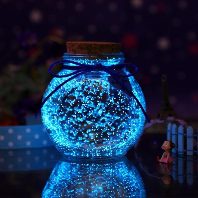 10g particules fluorescentes fête lumineuse bricolage peinture brillante étoile souhaitant bouteille particules fluorescentes jouets ornements