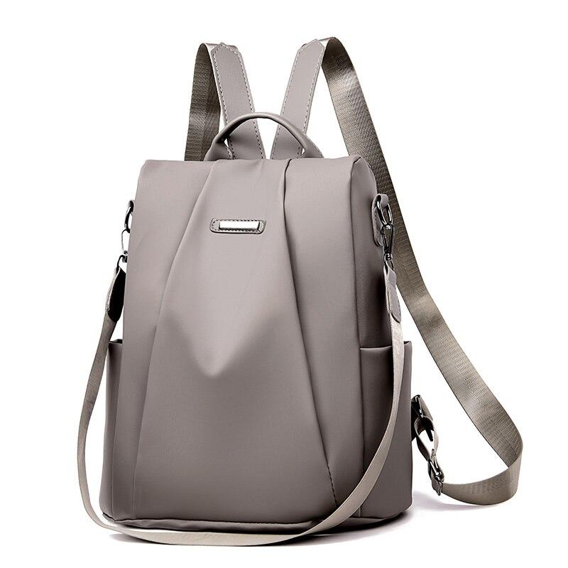 Mochila para mujer, mochila ligera suave Oxford, mochila pequeña para mujer, diseño antirrobo, bolso de hombro para mujer